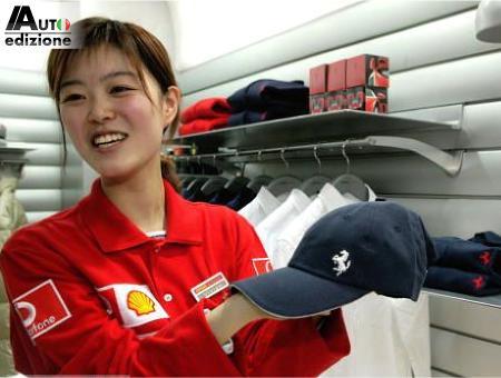 De Chinese Vrouw Is Gek Op Ferrari Auto Edizione