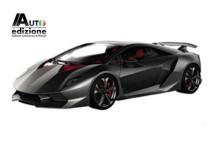 Teasers waren van Lamborghini Sesto Elemento concept