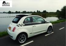 Fiat zet 500 TwinAir in de wachtstand