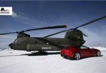Hoop gedoe rond Ferrari FF bovenop een alp