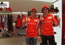 Alonso opent Ferrari Store in Barcelona