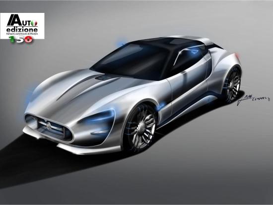Design Maserati Gt Garbin Blauwdruk Voor Gt Van De