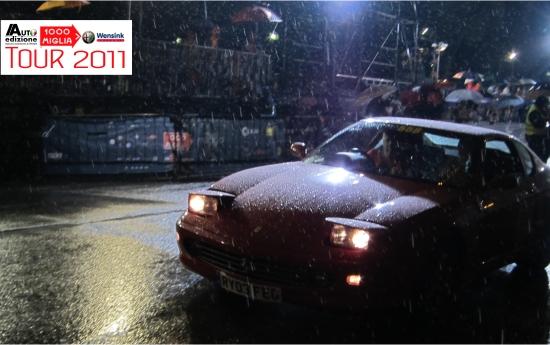 Mille Miglia 2011 finish rain