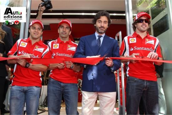 opening Ferrari Store Barcelona