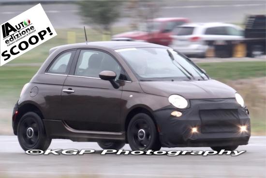 Fiat 500 EV scoop