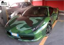 Nieuwe Ferrari 458 Italia van Lapo Elkann heeft militair tintje