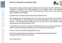 Fiat ontkracht met klem valse berichtgevingen