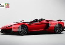 Vlak voor Genève uitgelekt: Lamborghini Aventador J Speedster
