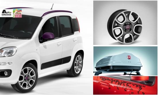 fiat komt meet zeer uitgebreide accessoirelijn voor de panda auto edizione. Black Bedroom Furniture Sets. Home Design Ideas