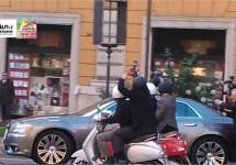 Nieuwe commercial in de maak met Lancia Thema