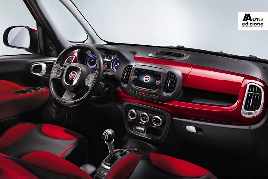 Eerste persfoto 39 s interieur fiat 500l auto edizione for Fiat 500 x interieur