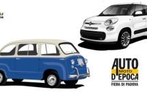 Fiat 500L en Multipla naast elkaar op Auto e Moto d'Epoca