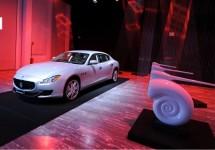 Geluid van de Maserati Quattroporte centraal tijdens Seven Notes