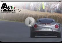 Eindelijk bewegende beelden Alfa Romeo 4C op Goodwood