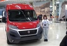 Productiestart nieuwe Fiat Ducato gisteren gevierd