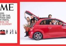 Fiat 500 symbool nieuwe economie op Time cover