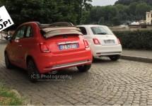 Nieuwe Fiat 500 rijdt open en bloot door Turijn