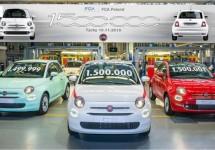 Fiat viert in Tychy 500 nummer 1.500.000