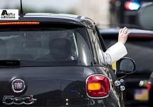 Pauselijke Fiat 500L wordt geveild