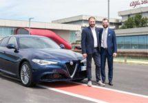 Eerste klanten ontvangen sleutels Alfa Romeo Giulia