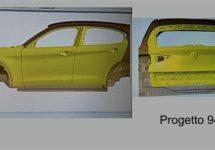 Blauwdruk plaatwerk toont glimp Alfa Romeo Stelvio