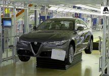 Productie Alfa Romeo Giulia stil in verband met aanpassingen