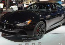 Gitzwarte Maserati Ghibli Nerissimo in New York