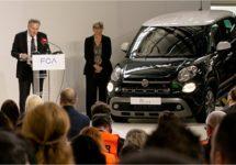 Productiestart nieuwe Fiat 500L vandaag gevierd in Servië