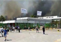 Grote brand bedreigde FCA motorenfabriek in Termoli