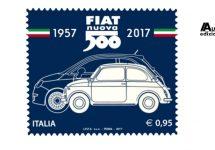 Bezegeling 60 jaar Fiat 500 met speciale postzegel