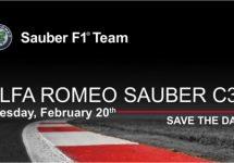 Presentatie F1 bolide Alfa Romeo Sauber C37 op 20 februari