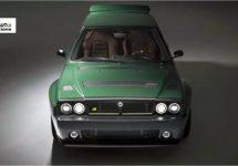 Lancia Delta Futurista is bijna sacrale remake