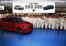 Fiat Tipo nummer 500.000 rolt van de band