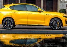 Opvallend gele Maserati Levante in Sjanghai